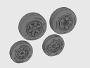 ASQ48062 1/48 F/A-18 C/D wheel set
