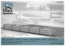 ASQ72007 Diorama : US airfield with steel revetment wall section