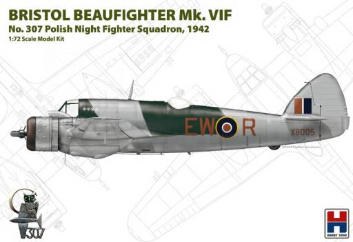 H2K72003 Bristol Beaufighter Mk.VIF No. 307 Polish Night Fighter Squadron (ex-Hasegawa)