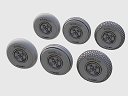 ASQ72070 Spitfire 4-spoke wheels set/3 thread variant