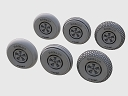 ASQ72071 Spitfire 5-spoke wheels set/3 thread variant
