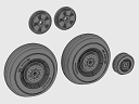 ASQ72106 DH Mosquito wheels set