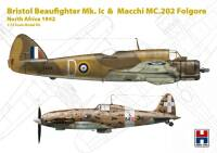 H2K72005 Bristol Beaufighter Mk.Ic & Macchi MC.202 Folgore North Africa 1942 (ex-Hasegawa)
