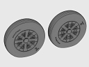 ASQ48069 1/48 F4U Corsair / F6F Hellcat Ribbed Thread Wheels set