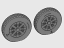 ASQ48068 1/48 F4U Corsair / F6F Hellcat Block Thread Wheels set