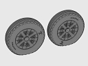 ASQ48070 1/48 F4U Corsair Ribbed/Diamond Thread Wheels set