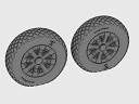 ASQ48067 1/48 F4U Corsair / F6F Hellcat Diamond Thread Wheels set