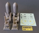 ASQ48030 1/48 GP US Bomb 2000lb 2pcs