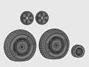 ASQ72105 DH Mosquito wheels block tread set