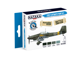 HTK-BS02 Early Luftwaffe paint set -- BLUE LINE