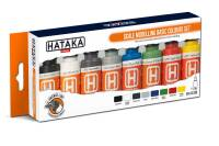 HTK-CS100 Scale Modelling Basic Colours set – ORANGE LINE