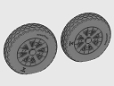 ASQ48071 1/48 F4U Corsair Cross Thread Wheels set
