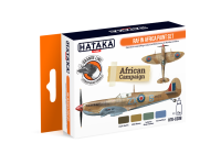 HTK-CS08 RAF in Africa paint set --> ORANGE LINE