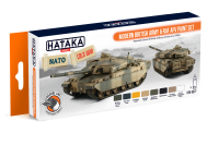 HTK-CS77 Modern British Army & RAF AFV paint set --> ORANGE LINE