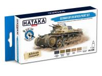 HTK-BS90 German AFV in Africa paint set -- BLUE LINE