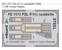 EDUFE1175 1/48 PZL P.11c seatbelts STEEL (Arma Hobby)