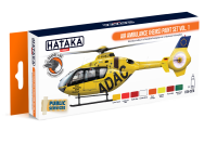 HTK-CS76 Air Ambulance (HEMS) paint set vol. 1 -- ORANGE LINE