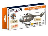 HTK-CS19 US Army Helicopters Paint Set -- ORANGE LINE