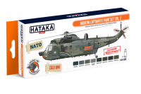 HTK-CS55 Modern Luftwaffe paint set vol. 2 --> ORANGE LINE