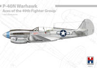 H2K48001 P-40N Warhawk Aces of the 49th Fighter Group ex-Hasegawa